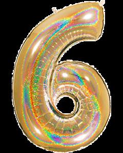 Cijfers XXL Holografische 104 cm Rose gold -zilver -Goud