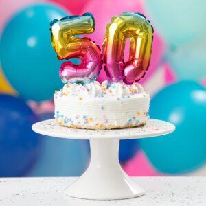 Kaarsjes & Cijfersballonnen voor op een taart