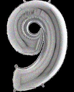 Cijfers XL 66 cm Holografisch zilver